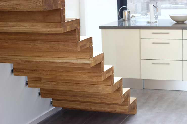 Faltwerktreppe Homburg: modern  von lifestyle-treppen.de,Modern