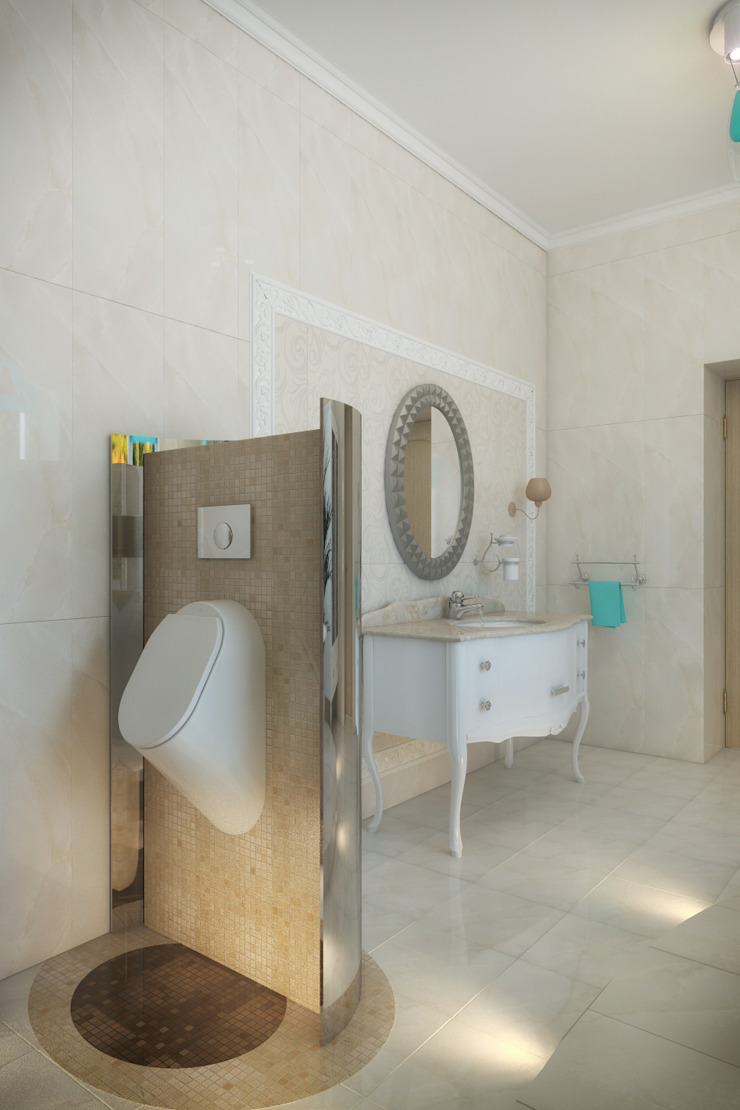 Частный дом Ванная комната в стиле модерн от Art Group 'Tanni' Модерн