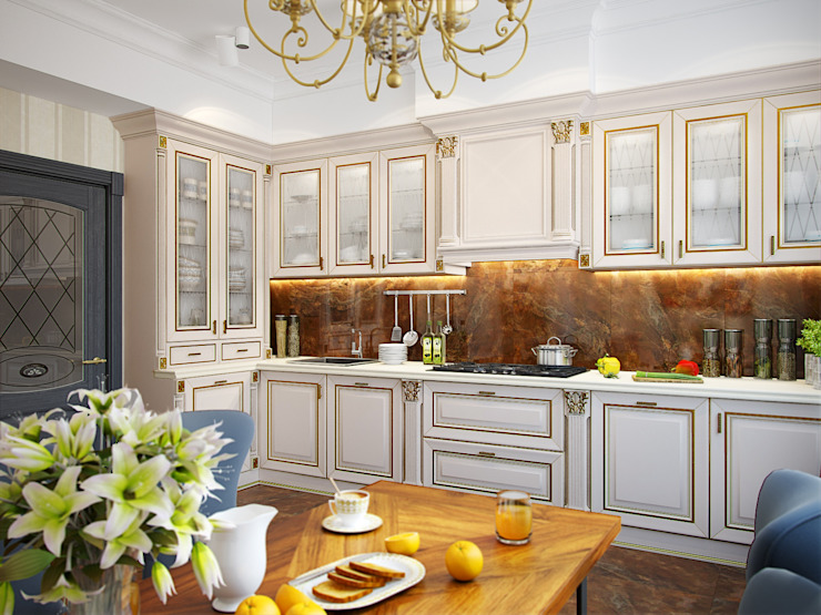 Eclectic style kitchen by Студия дизайна интерьера Маши Марченко Eclectic