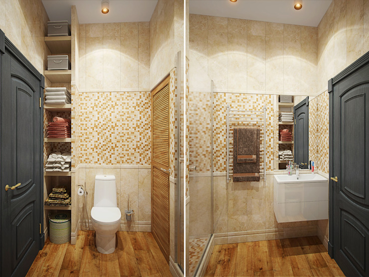 Eclectic style bathroom by Студия дизайна интерьера Маши Марченко Eclectic