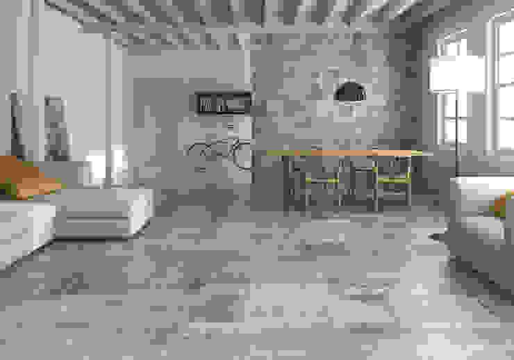 Serie Attico, simulación madera Salones de estilo moderno de Azulev Moderno