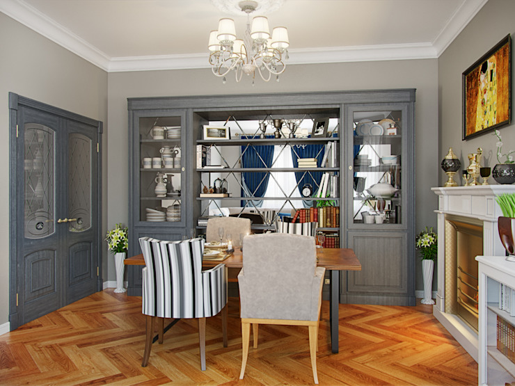 Eclectic style living room by Студия дизайна интерьера Маши Марченко Eclectic