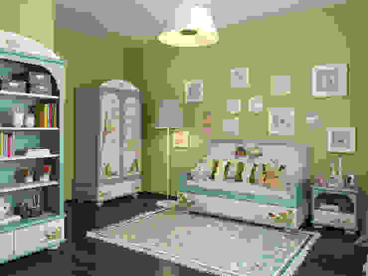 Dormitorios infantiles escandinavos de Студия дизайна интерьера Маши Марченко Escandinavo