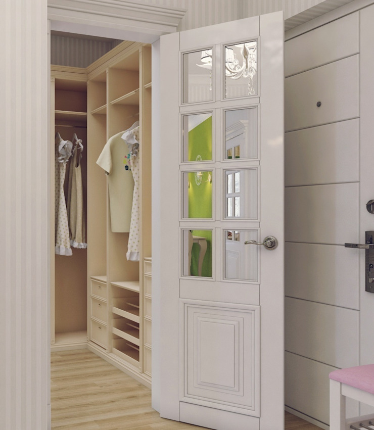 Квартира для девушки в ЖК <q>Аврора</q> Гардеробная в эклектичном стиле от Студия дизайна интерьера Маши Марченко Эклектичный