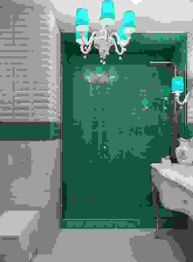 Квартира для девушки в ЖК <q>Аврора</q> Ванная комната в эклектичном стиле от Студия дизайна интерьера Маши Марченко Эклектичный
