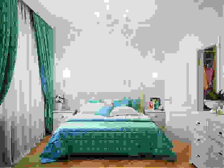غرفة نوم تنفيذ Студия дизайна интерьера Маши Марченко, إنتقائي