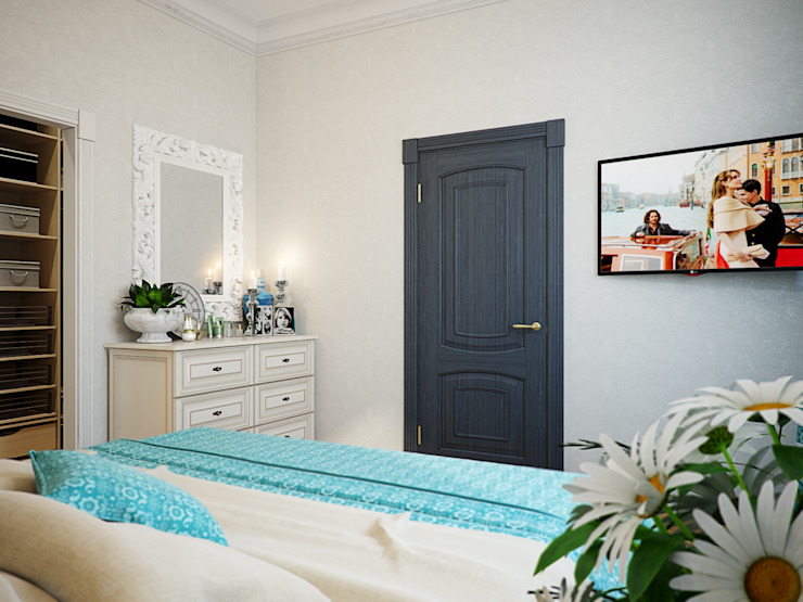 Eclectic style bedroom by Студия дизайна интерьера Маши Марченко Eclectic