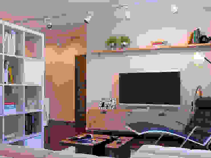 Квартира в скандинавском стиле в Перми Гостиная в скандинавском стиле от Студия дизайна интерьера Маши Марченко Скандинавский