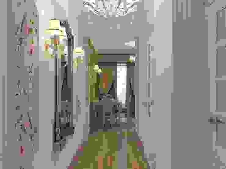 Квартира для девушки в ЖК <q>Аврора</q> Коридор, прихожая и лестница в эклектичном стиле от Студия дизайна интерьера Маши Марченко Эклектичный