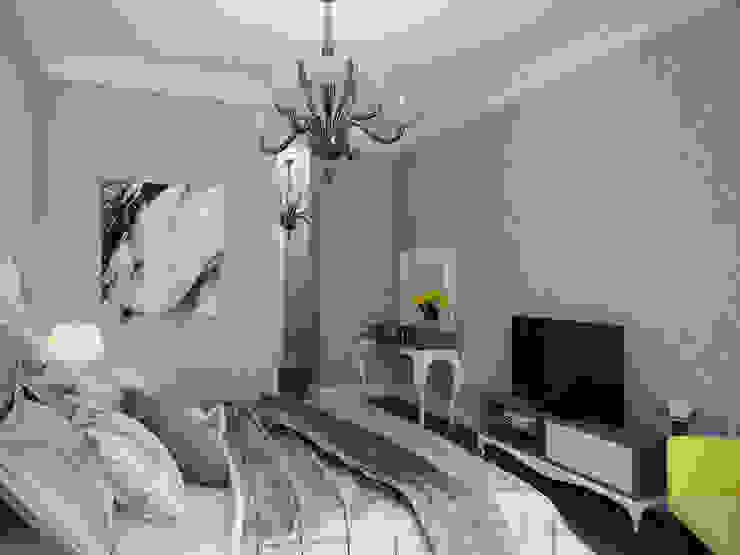 Квартира в ЖК <q>Морской Фасад</q> Спальня в эклектичном стиле от Студия дизайна интерьера Маши Марченко Эклектичный