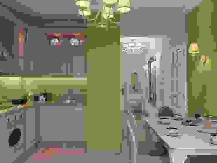 Квартира для девушки в ЖК <q>Аврора</q> Кухни в эклектичном стиле от Студия дизайна интерьера Маши Марченко Эклектичный