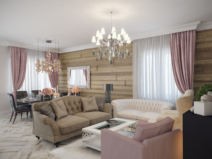 Living room by Студия дизайна интерьера Маши Марченко, Eclectic