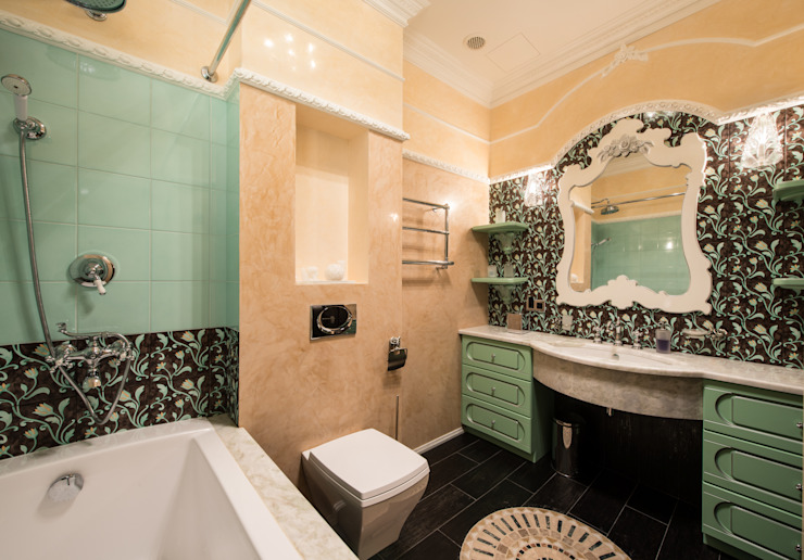 Гармония стилей Ванная комната в эклектичном стиле от Premier Dekor Эклектичный