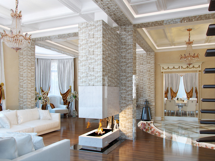 Classic style living room by Студия дизайна интерьера Маши Марченко Classic