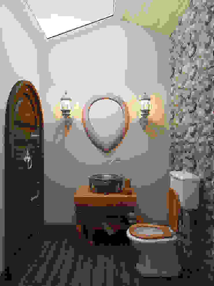 Беседка в поселке Ропша Студия дизайна интерьера Маши Марченко Ванная комната в рустикальном стиле