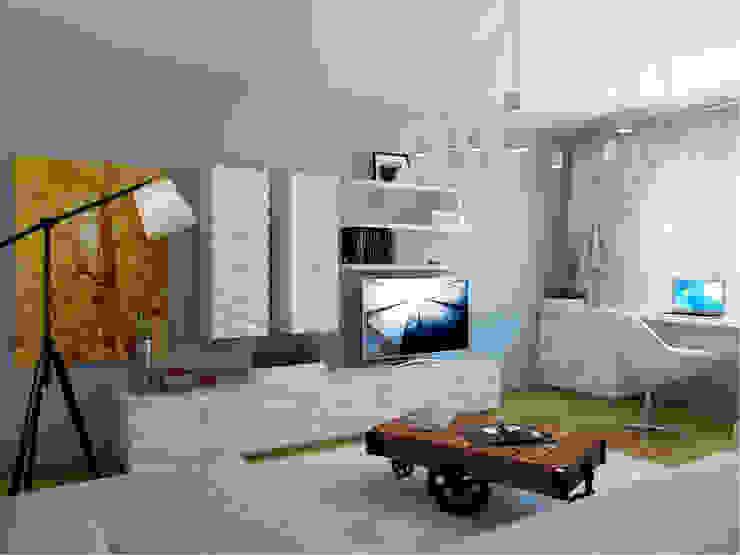 Квартира в г. Гатчина Гостиная в скандинавском стиле от Студия дизайна интерьера Маши Марченко Скандинавский