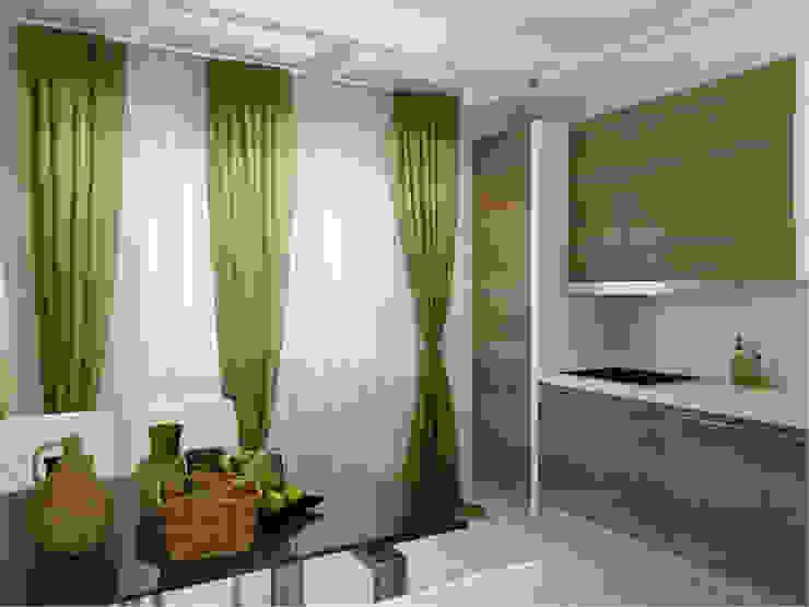 Квартира в г. Гатчина Кухня в скандинавском стиле от Студия дизайна интерьера Маши Марченко Скандинавский