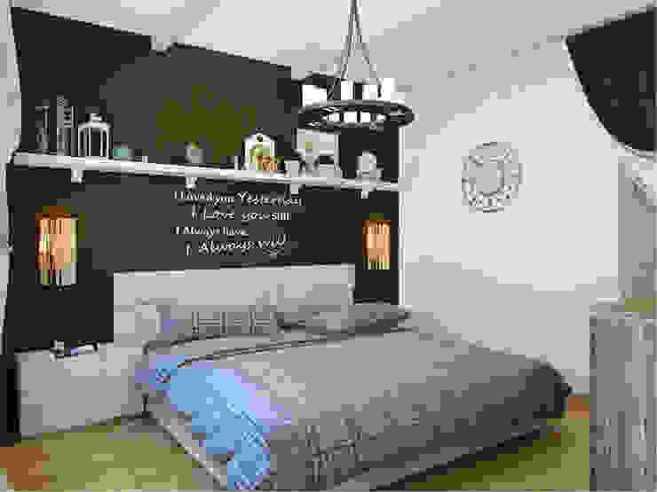 Квартира в г. Гатчина Спальня в скандинавском стиле от Студия дизайна интерьера Маши Марченко Скандинавский