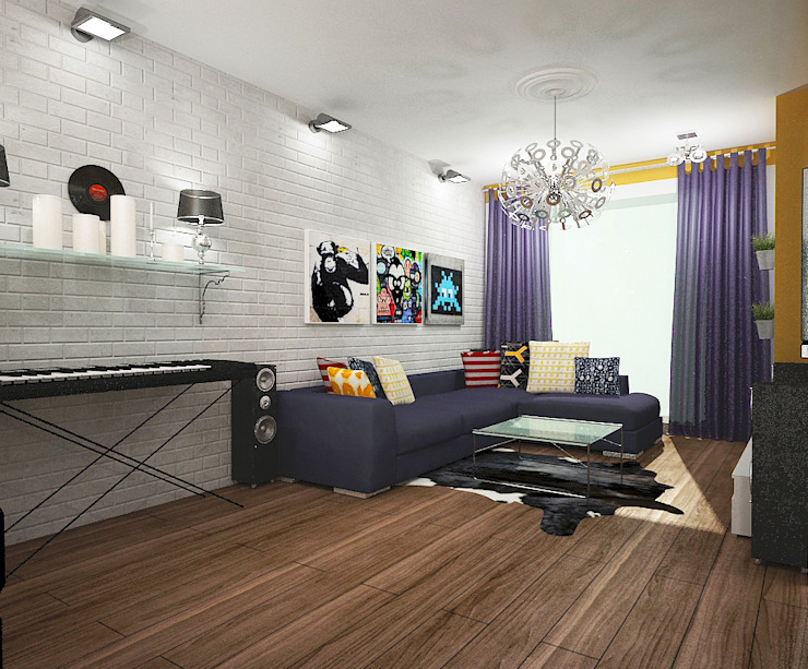 Best Home Industrial style living room