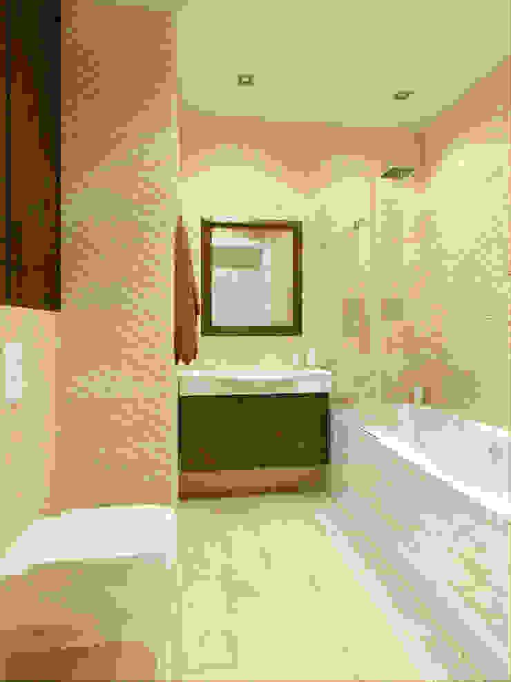 Квартира в г. Гатчина Ванная комната в скандинавском стиле от Студия дизайна интерьера Маши Марченко Скандинавский