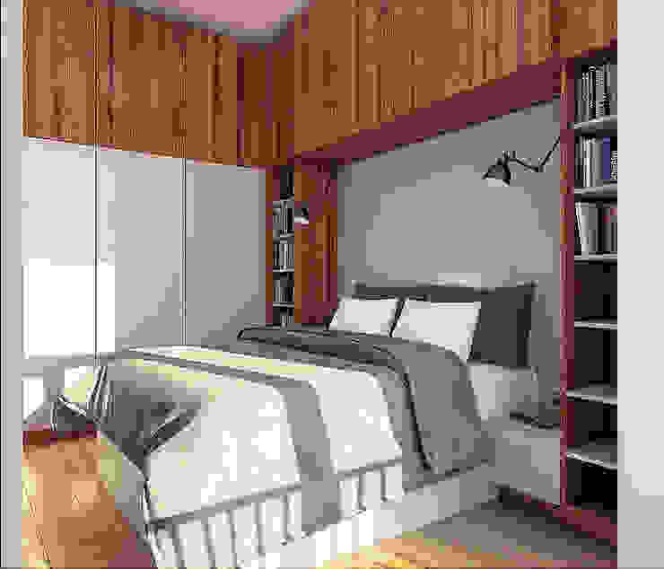 Camera da letto in stile scandinavo di sreda Scandinavo