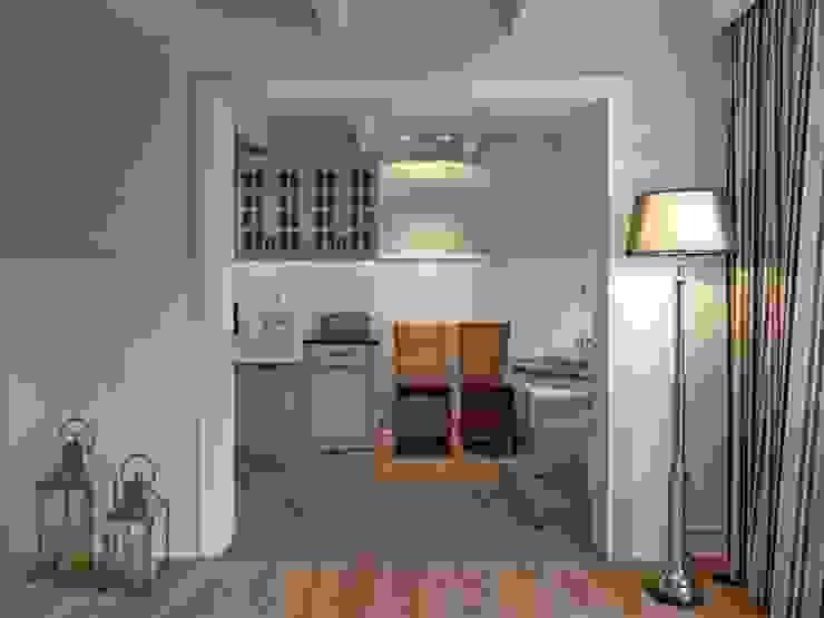 Apartament na Mazurach Klasyczna kuchnia od BBHome Design Klasyczny