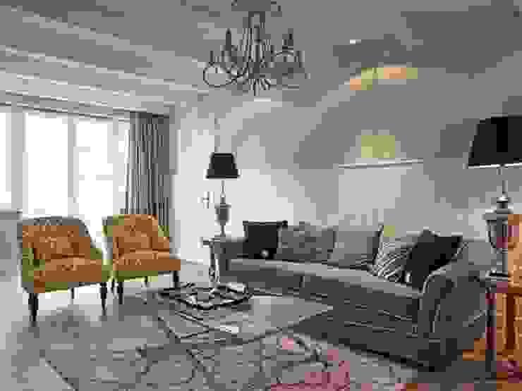 Apartament na Mazurach: styl , w kategorii Salon zaprojektowany przez BBHome Design,Klasyczny