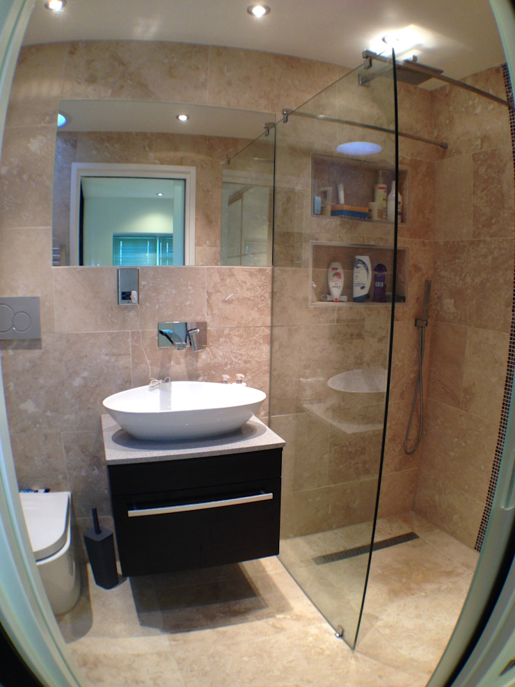 wet room ensuite Moderne badkamers van Progressive Design London Modern