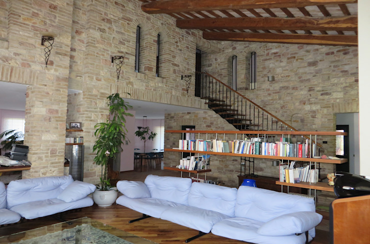 Studio di Bioarchitettura Brozzetti Adriano Country style living room