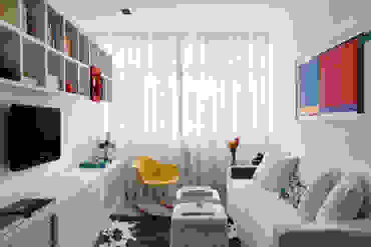 Apartamento Botafogo Salas de estar modernas por Barbara Filgueiras arquitetura Moderno