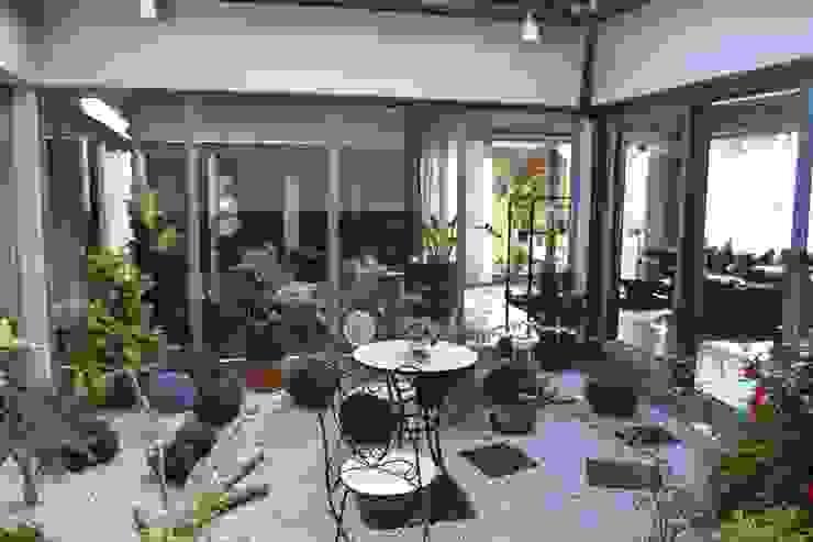 モダンスタイルの 温室 の Autorskie Studio Projektu QUBATURA モダン