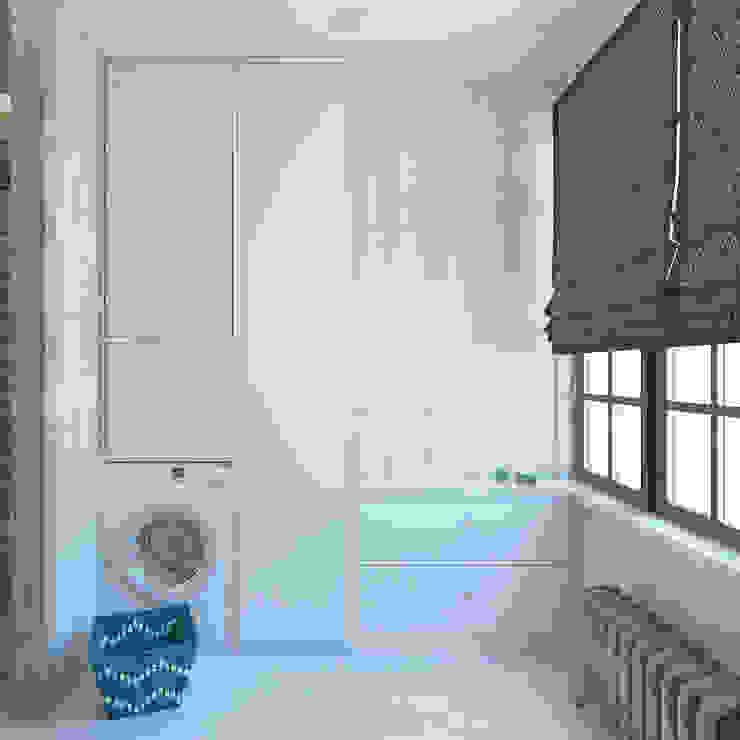 Проект загородного дома г.Екатеринбург Ванная комната в стиле модерн от Частный дизайнер и декоратор Девятайкина Софья Модерн