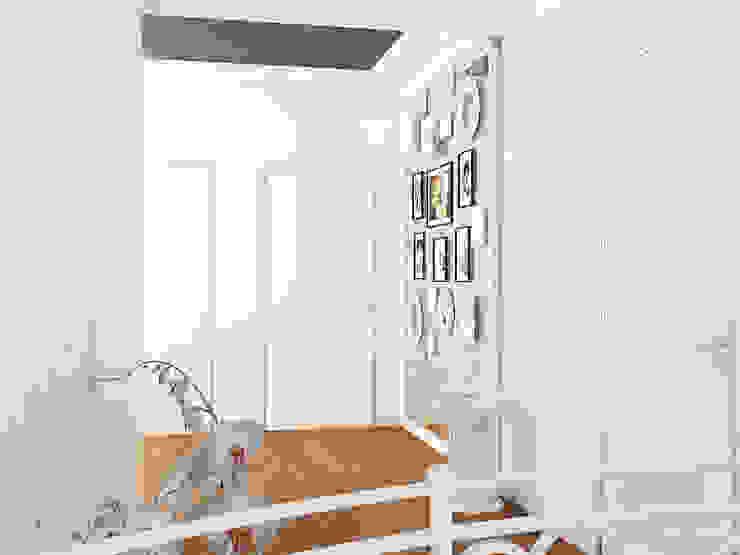 Проект загородного дома г.Екатеринбург Коридор, прихожая и лестница в модерн стиле от Частный дизайнер и декоратор Девятайкина Софья Модерн