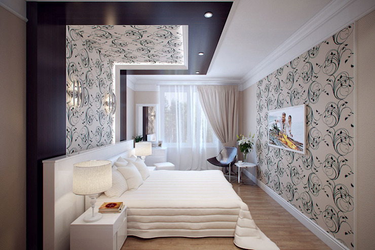 Eclectic style bedroom by Студия интерьера 'SENSE' Eclectic