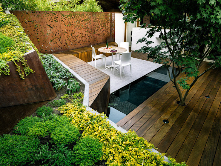 Terrace by homify, Modern