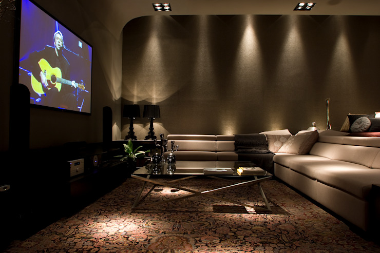Modern media room by dsgnduo Modern