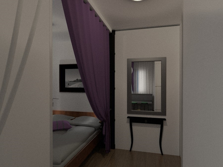 Спальня с мини кабинетом:  в современный. Автор – Art Group 'Tanni', Модерн