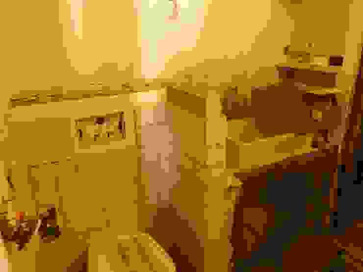 Appartement Pastourelle - Sdb pendant le chantier homify Salle de bain moderne