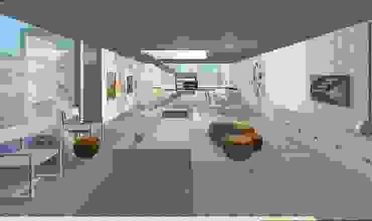 Projeto Casa Salas de estar modernas por Studio Bonazza Moderno
