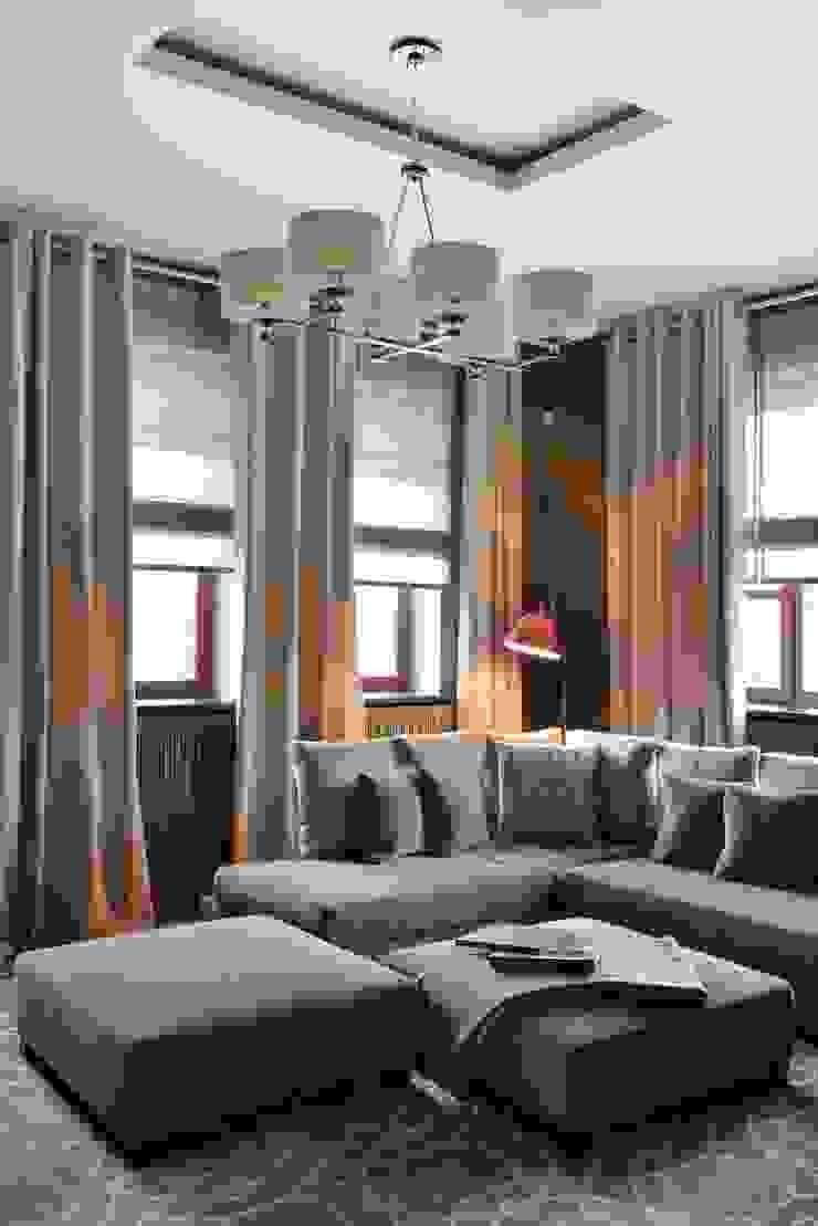 Загородный дом в современном стиле Медиа комната в стиле модерн от ANIMA Модерн