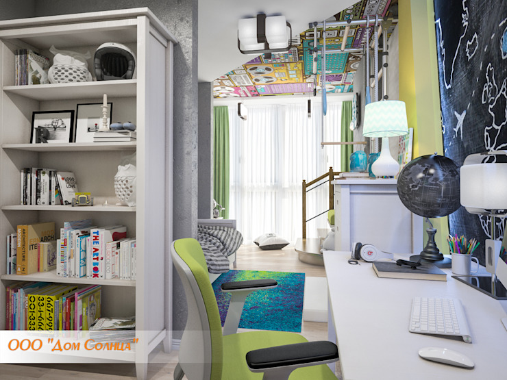 Детская комната для мальчика Детская комната в стиле лофт от Дом Солнца Лофт