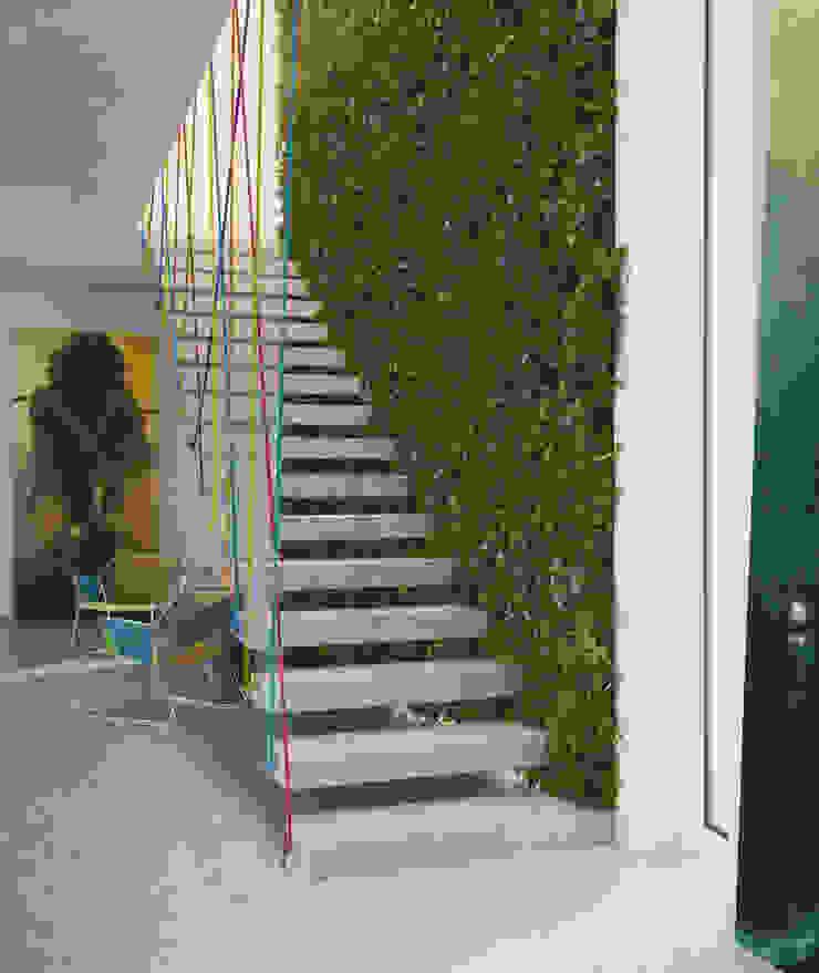 Vertical Garden Nowoczesny korytarz, przedpokój i schody od Seryjny Projektant Nowoczesny