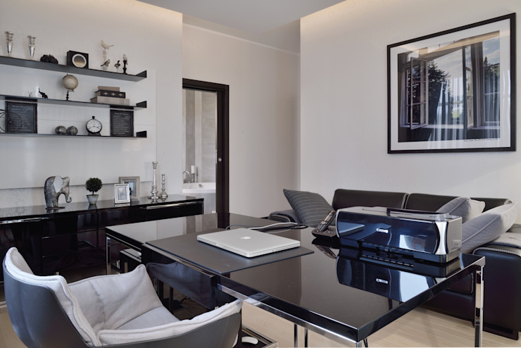 Загородный дом в современном стиле Рабочий кабинет в стиле модерн от ANIMA Модерн