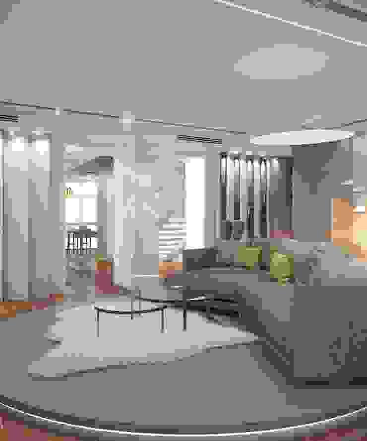 Apartment in Ekaterinburg Гостиная в стиле минимализм от E_interior Минимализм