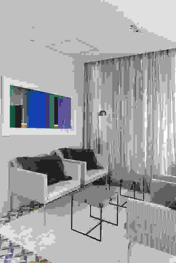 Casa Boa Vista Salas de estar campestres por Triplex Arquitetura Campestre