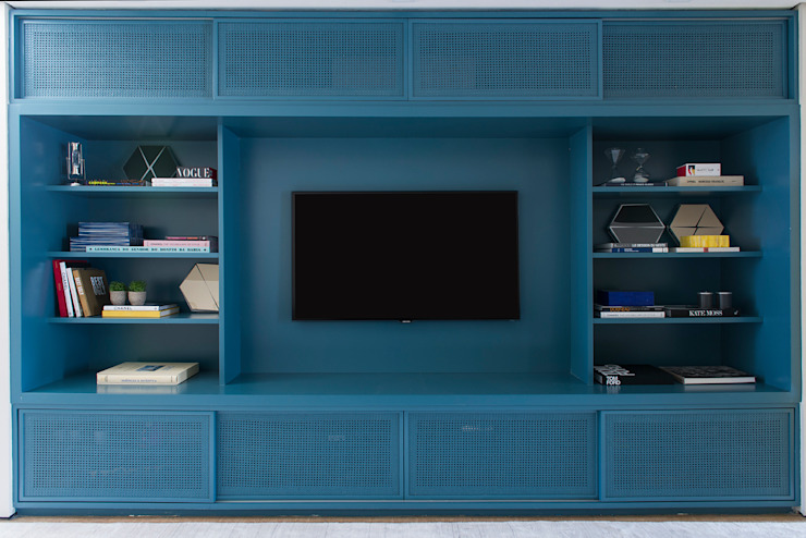 Country style media room by Triplex Arquitetura Country