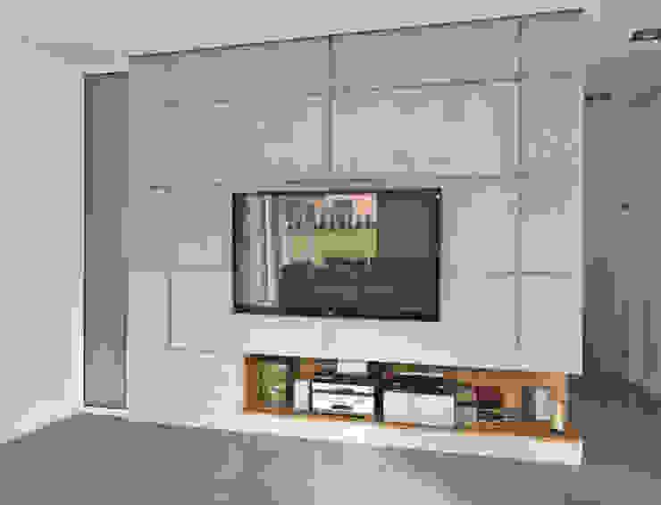 Projekty,  Pokój multimedialny zaprojektowane przez NUX Edward Dylawerski, Nowoczesny