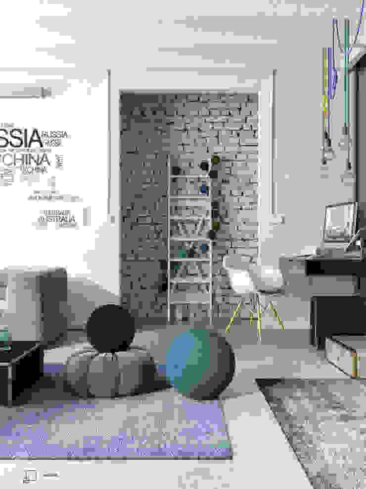 Na walizkach... Industrialny salon od Seryjny Projektant Industrialny