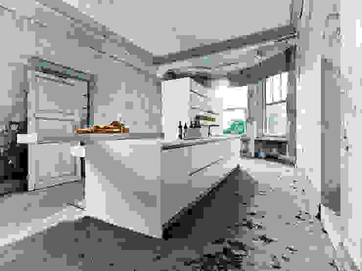 NX800 Polariswit Minimalistische keukens van Eiland de Wild Keukens Minimalistisch