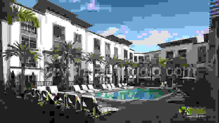 3D Residential Apartment Exterior Design: modern  by Yantram Architectural Design Studio, Modern